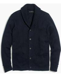 J.Crew - Cotton Shawl Cardigan Sweater - Lyst