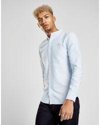 Farah - Brewer Grandad Long Sleeve Shirt - Lyst