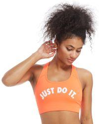 Nike - Training Just Do It Sports Bra - Lyst