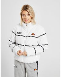 Ellesse - Tape Panel Padded Jacket - Lyst