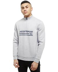 Lacoste - 1/4 Zip Central Track Top - Lyst