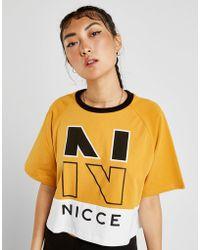 da465e4060 Nicce London - Colour Block Logo Crop T-shirt - Lyst