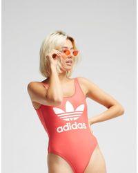 adidas Originals - 3-stripes Trefoil Swimsuit - Lyst