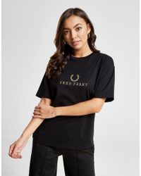 Fred Perry - Embroidered T-shirt - Lyst