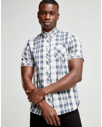 Fred Perry - Short Sleeve Check Shirt - Lyst