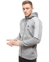 adidas - Essential Full Zip Hoodie - Lyst