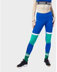 Reebok Meet You There Panelled Tights - Blue