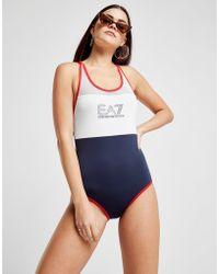 EA7 - Panel Swimsuit - Lyst