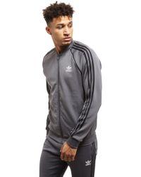 Lyst adidas superstar track top in grigio originale per gli uomini