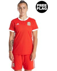 adidas - Wales 2017/18 Home Shirt Womens - Lyst