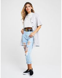 SIKSILK - Stripe Baseball Shirt - Lyst