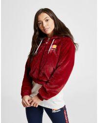Ellesse - Anne-marie Faux Fur Crop Full Zip Jacket - Lyst