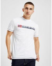 Napapijri - Short Sleeve Logo T-shirt - Lyst
