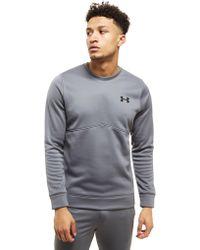 Under Armour - Fleece Poly Crew Sweatshirt - Lyst