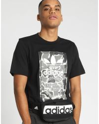 adidas - Camouflage Tongue Label Tee - Lyst