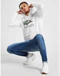 Lacoste - Long Sleeve Graphic Croc Brushed Fleece Jersey Hoodie - Lyst