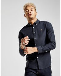 Farah - Brewer Oxford Long Sleeved Shirt - Lyst