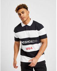 DC Shoes - Stripe Central Logo Polo Shirt - Lyst