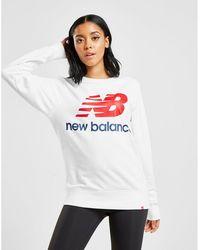 New Balance - Boyfriend Crew Sweatshirt - Lyst