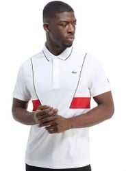 Lacoste - Side Panel Poly Polo Shirt - Lyst
