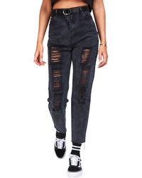 SIKSILK - Rip Mom Jeans - Lyst
