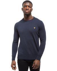Lyle & Scott - Crew Cotton Knit Core Sweatshirt - Lyst