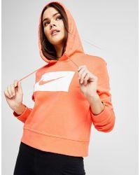 Nike - Swoosh Crop Hoodie - Lyst