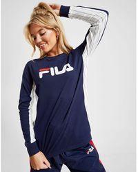 035c7a4a9d4 Lyst - Fila Long Sleeve Boyfriend T-shirt in Gray