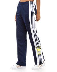 adidas Originals - Adibreak 3-stripe Navy Taping Popper Track Trousers - Lyst