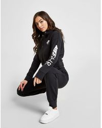 ad7cf7728aa4f Nike - Air Full-zip Fleece Cropped Hoodie - Lyst