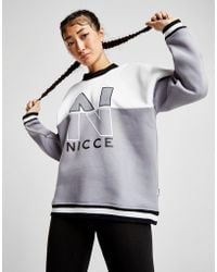 Nicce London - Colour Block Rib Crew Sweatshirt - Lyst
