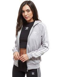 adidas Originals - 3-stripes Full Zip Hoodie - Lyst