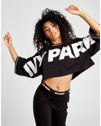 Ivy Park - Oversized Logo Crop Top - Lyst