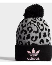 adidas Originals - Pom Leopard Beanie - Lyst