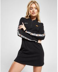 012693e5671a9 Ellesse - Tape Long Sleeve Polo Dress - Lyst