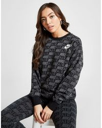 3dd3ff5445eaf Nike - Air All Over Print Crew Sweatshirt - Lyst