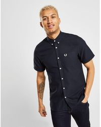 6cfd4c2f4ad Lyst - Fred Perry Striped Cuff Shirt in Blue for Men
