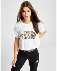 The North Face - Crop Logo T-shirt - Lyst
