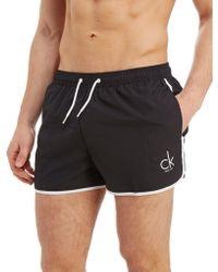 CALVIN KLEIN 205W39NYC - Piping Swim Shorts - Lyst