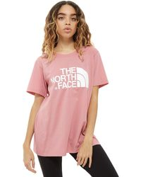 The North Face   Logo Boyfriend T-shirt   Lyst