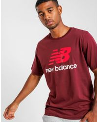 New Balance - Essentials Stacked Logo Tee - Lyst