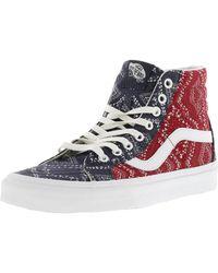 e533aa5e1385 Vans - Sk8-hi Reissue Ditsy Bandana Chili Pepper Mid-top Canvas  Skateboarding Shoe