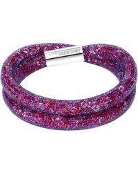 Swarovski - Stardust Crystal Filled Mesh Wrap Bracelet - Lyst