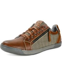 Alpine Swiss - Fabian Mens Casual Sneakers Low Top Lace Up Zippered Fashion Shoes - Lyst