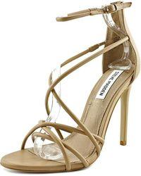 fd14ef0778d Lyst - Steve Madden Women S Stefano Block Heel Platform Sandals in White