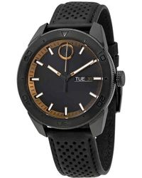 Movado - Bold Black Dial Black Leather Watch 3600478 - Lyst
