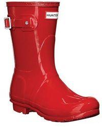 HUNTER - Original Short Gloss Rain Boot - Lyst