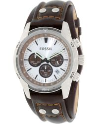 Fossil - Ch2565 Coachman Leather-pig-skin Watch - Lyst