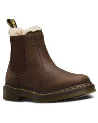 Dr. Martens - Leonore Fur Lined Chelsea Boot - Lyst