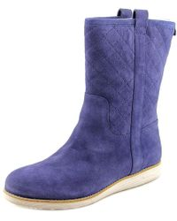 Cole Haan - Roper Grand Boot Wp Round Toe Suede Mid Calf Boot - Lyst